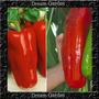 Pimentão Gigante Vermelho Sementes P/ Mudas