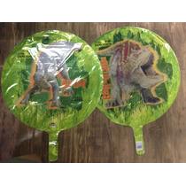 Balão Metalizado 18p - 45cm Dinossauro