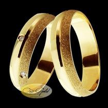Par De Alianças Em Ouro 18k - Noivado E Casamento