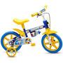 Bicicleta Infantil Aro 12 Masculina Nathor Shark 4 Azul