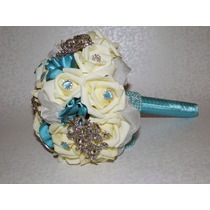 Buquê / Bouquet De Broches E Rosas - Noivas E Daminhas