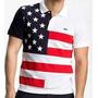 Camisa Polo Estados Unidos Símbolo Bordado