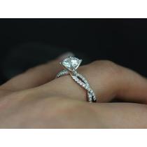 Solitário Infinito Com Diamantes Ouro Branco18k! Linda Jóia!