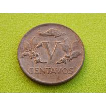 Moeda Da Colômbia De 1963 - 5 Centavos (ref 24)