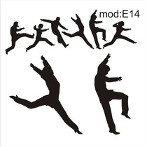 Adesivo E14 Dança Dançarinos Contemporaneo Homem Mulher