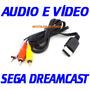 (( Cabo Audio E Vídeo )) P/ Dreamcast, Novo De Boa Qualidade