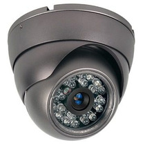 Câmera Segurança Dome Infra Vermelho 480 Linha Com Fonte