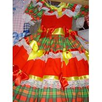 Vestido São João Já Enfeitados, Luxuosos 12 Até 15 Anos