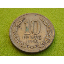 Moeda Do Chile De 1986 - 10 Pesos (ref 43)