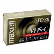 Fita Vhs-c Tc-30 Maxell Hgx-gold - Lacrada A Pronta Entrega