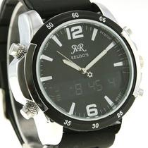 Relógio Esportivo Clássico( Exemplo Da Foto Em Preto) (verme