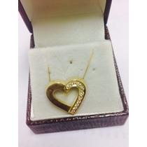 Coração Ouro E Diamantes - Ouro 18k. Diamantes Selecionados