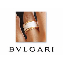 Anel Aliança Bvlgari Bzero Titânio Cerâmica Ouro Amarelo 18k