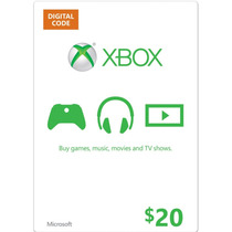 Xbox Live Gift Card $ 20 Dolares Us - 1600 Microsoft Points