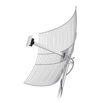 Antena Direcional De Grade Aquário 25 Dbi Com Cabo 10 Metros