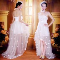 Vestido Noiva Mullet Curto Na Frente C/ Cauda Pronta Entrega