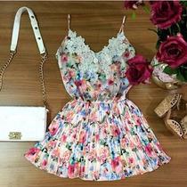 Vestido Florido (frete Grátis)