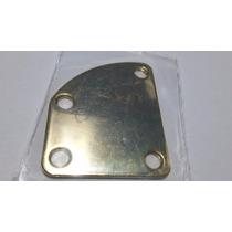 Neck Plate Dourado Curvado Para Junção Braço/corpo Guitarra