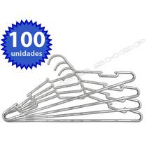 Kit Com 100 Cabides De Acrílico Transparente