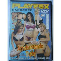 Dvd Pornô/erótico Arrebentando Tudo