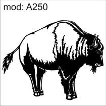 Adesivo A250 Bufalo Gordo Bigode Barba Animais