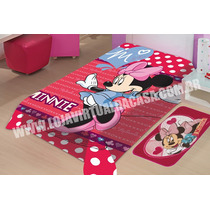 Cobertor Minnie Mouse Solteiro Raschel Jolitex