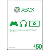 Xbox Live Gift Card $50 - Microsoft Points 50 Dolares Us !