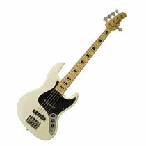 Baixo Tagima Tjb5 5 Cordas Fender Jazz Bass Cor Branco Tjb 5