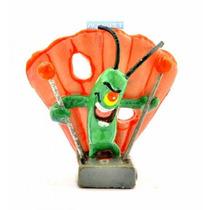 Mini Plankton Sbr4 Penn Plax - Bob Esponja Enfeite Aquário