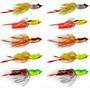 Kit Com 5 Iscas Artificiais Importadas Sapo Artificial Frog