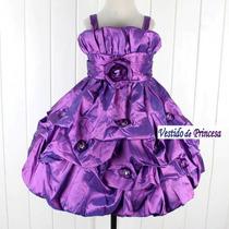 Vestido Festa Infantil Violeta 5 Anos - Pronta Entrega