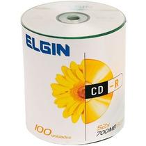 Cd-r Gravável 700mb Embalagem Com 100 Unidades Elgin