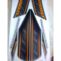 Faixa Adesiva Moto Ys 250 Fazer 2011 Preta Completa
