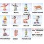 Tigrão Peter Pan Grilo Rei Lui Share Khan Pooh Disney Toy