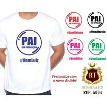 Camiseta Masculina T-shirt Personalizada -pai- Grávida