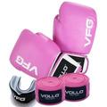 Kit Fight Vollo Vfg Boxe, Muay Thai, Mma- Luvas 12,14 Oz