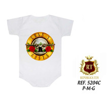Guns Roses Body Infantil Bandas Famosas Rock N' Roll