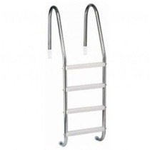 Escada Para Piscina - Aço Inox 304 - 4 Degraus Em Abs