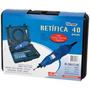 Micro Retifica Kit 40 Peças Eixo Flexível Maleta R50 Western