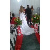 Vestido De Noiva Com Calda Removivel,saiote,riara E Luva