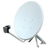 Antena 1m X Ti90cm Banda Ku+lnbf+20m Cabo+ Kit Instalaçao