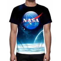 Camisa, Camiseta Nasa Mod 02 - Estampa Total