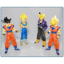 4 Bonecos Dragon Ball - Action Figures Goku Especial Ed