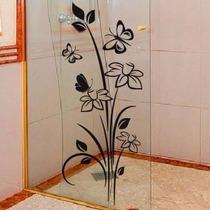 Adesivo De Vidro Floral - Janela - Box - Parede