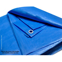 Lona 4 X 3 Azul Plastica Impermeavel Festa Telhado Multi Uso