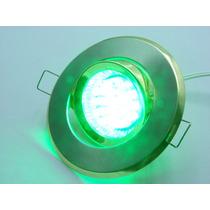 Kit Spot Direcionável Prata + Lampada 20 Leds Verde