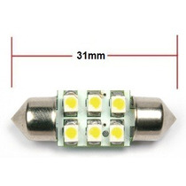 Kit 2pcs Lâmpada 6 Led Torpedo Automotiva Luz Branca 12volts