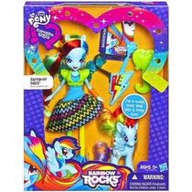 Boneca My Little Pony Equestria Girls Rainbow Dash C/ Ponei