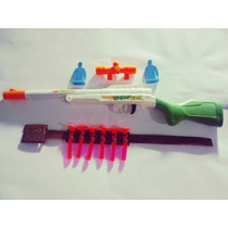 Arminha Arma Rifle De Pressão Com 6 Dardos E Mira