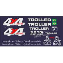 Kit Adesivos Resinados Troller 2006 Azul - Decalx
